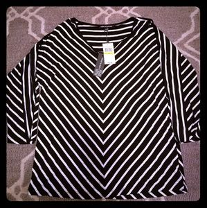 NWT Cable&Gauge Striped Cold Should Top